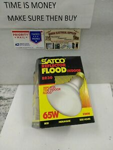 Satco Reflector Flood Indoor BR30 65W S2808  2000HR, 120V  MEDIUMBASE(#14EB1