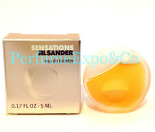 SENSATIONS JIL SANDER Perfume 5ml - 0.17oz SPLASH MINI Eau De Toilette (C53
