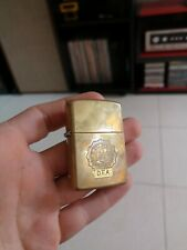 Rare Zippo Anti drug Police D E A Detective 1990 Vintage Solid Brass made in USA