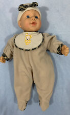 Plush and Plastic Baby Doll 12 inches Cititoy Complete With Outfit And Hat