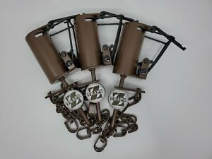 (Lot of 1-12) Brown Z Trap Dog Proof Raccoon Trap with Push Pull Trigger set
