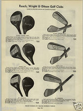 1941 PAPER AD Harry Cooper Wiffy Cox Wright & Ditson Golf Clubs St. Andrews