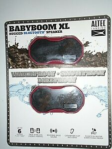 "Altec Lansing Babyboom XL Rugged Bluetooth Speaker - 2 Pack Red ""NEW"""