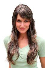 Parrucca donna,braun,grigio,lang,Wig,mosso,Sostituzione dei capelli,ca. 60 cm,