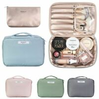 Waterproof PU Makeup Bag Brush Cosmetic Case Storage Handle Organizer Travel Kit