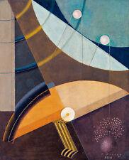 Composition BA220 by Karol Hiller A2+ High Quality Canvas Art Print