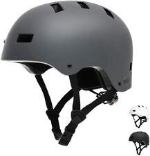 Fahrradhelm helm Erwahsene Skaterhelm E-Scooter E-Roller BMX Dunkelgrau ohne OVP