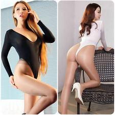 Damen Transparent Body Stringbody Langarmbody Unterwäsche Durchsichtig Bodysuit