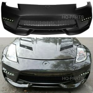 Fits 03-09 Nissan 350z to 370z Conversion NIS Style Front Bumper Cover With LED