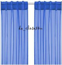 Brand New Blue Curtains Ikea Sarita Sheer Hemming strip included 1 pair 57x118""