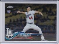 "Walker Buehler 2018 Topps Chrome ""RC"" Rookie Card"