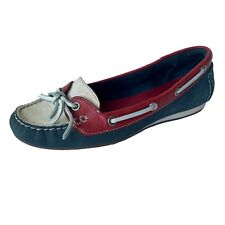 Cole Haan Women's Leather Red White & Blue Loafer Boat Shoe size 8 B