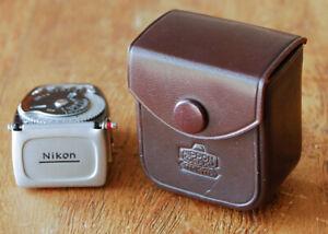 RARE 1958 Nikon Nippon Kogaku Exposure Meter for SP S3 S4 S3M black w case light
