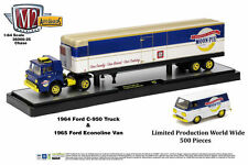 M2 Machines 36000-25 1964 Ford C-950 Truck & 1955 Ford Econoline Van Chase Car