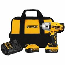 DEWALT DCF899H 18V / 20V BRUSHLESS XR 3 SPD IMPACT WRENCH WITH 2 X DCB205  5 AH