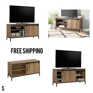 """New, TV Stand, for TVs up to 54"""", Rustic Weathered Oak Finish 425728, Free Ship"""