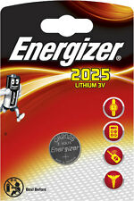 2 x Energizer Batterie CR2025 Lithium 3V Knopfbatterie CR 2025 Battery NEW