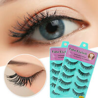 10 Pairs Luxurious Soft 3D False Eyelashes Cross Messy Long Eye Lashes Makeup N.