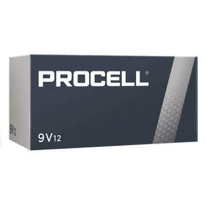 12 9V Duracell Procell Block Batteries PC1604  Exp 3/2025