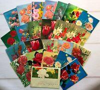 Russian Greeting Telegram Lot 24 pcs Vintage Flowers 70-80s Telegram set