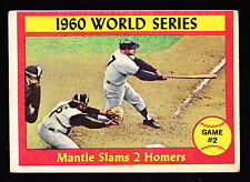 1961 TOPPS #307 MICKEY MANTLE SLAMS 2 HOMERS