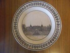 Assiette CHOISY le ROI 1820   Château de la malmaison  série monuments de Paris