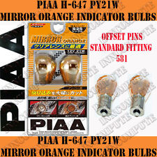 PIAA H-367, OR H-347 MIRROR ORANGE PY21W 581 Bulbs