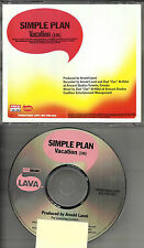 SIMPLE PLAN Vacation 2002 USA PROMO Radio DJ CD single PRCD 301281 MINT