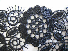 Black Lace Bracelet Vintage Cosplay Victorian Crystal Ring Chain Suit