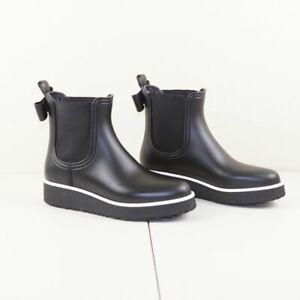 Kate Spade Malcom Black Wedge Bow Rain Boots Womens Sz 9