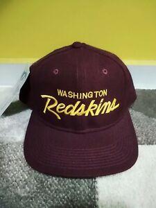 Vintage Washington Redskins Sports Specialties Script Snapback Hat Cap RARE