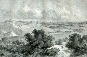 China, view of Beijing on the horizon.....engraving  1864