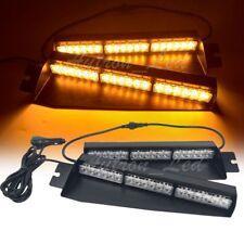 """29"""" 36W LED Warning Emergency Mini Visor Dash Deck Split Strobe Light Bar Amber"""