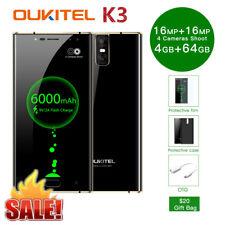 "6000mAh 64GB+4GB 5.5"" FHD Oukitel K3 4G Smartphone Android 7.0 Octacore Dual SIM"