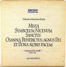 3 LP LINEN BOX ARCHIV Bach MASS IN B MINOR Richter STADER Topper SAPM 198 190/92