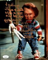 ED GALE Signed CHUCKY 8x10 Photo Child's Play In Person Autograph JSA COA Cert