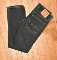 Hollister Men's Jeans Slim Straight Dark Wash Button Fly 100% Cotton Size 30X30