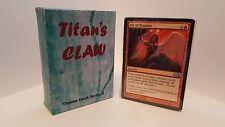 MTG Standard  & Theme Decks - Titan's Claw Red Green Magic the Gathering