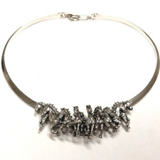 Horse Herd Sterling Silver Neck Collar Necklace | Kp704 | Kabana Jewelry