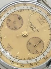 men eska Chronograph 2 Tone Dial Vintage Watch