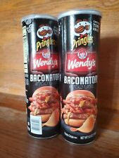 2 PRINGLES Wendys BACONATOR LIMITED EDITION POTATO CHIPS 5.5 OZ Two cans