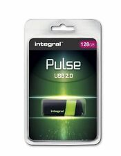PULSE USB 2.0 Flash Drive 128GB in Green with Retractable USB Plug, by INTEGRAL