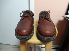 HUSH PUPPIES  MALL WALKER ANTIQUE BROWN LEATHER OXFORDS 10 WIDE LARGE