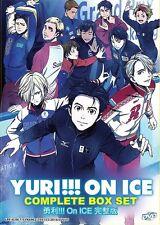 DVD Anime : Yuri!!! on Ice Complete Box Set ( Vol. 1-12 End ) English SUB