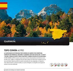 ORIGINAL Mapa Garmin TOPO España V6 PRO+ instrucciones BaseCamp