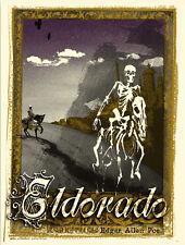 "Edgar Allen Poe Print by Jon Smith 8.5"" x 11"" screenprints,S/N LE 50 EL DORADO !"