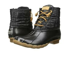 Sperry topsider saltwater shiny quilted duck boots