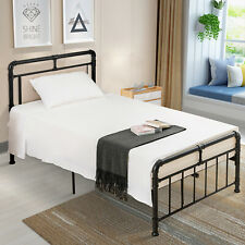 Twin Size Metal Bed Frame Platform Mattress Foundation Bedroom Furniture Black