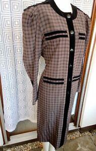 Vintage Kleid im Stil der 50er Jahre Reine Seide Gr. 38