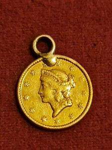 """1849 Liberty Head Gold Dollar Open Wreath Type1 Early US Dollar Coin No """"L"""""""